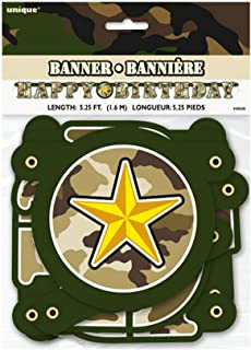 Unique Party Military Camo Jointed Banner (UK Size: One Size) (Green)