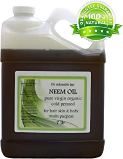 7 Lb/One Gallon Neem Oil Organic 100% Pure