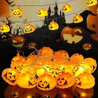 WNIPH Halloween ljusslinga pumpa 3 m 20 LED dekoration ljus för hus inomhus utomhus trädgårdar träd halloween festival jul...