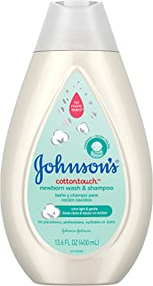 Johnson's CottonTouch Newborn Baby Wash & Shampoo with No More Tears, Sulfate-, Paraben- Free for Sensitive Skin, Made wit...