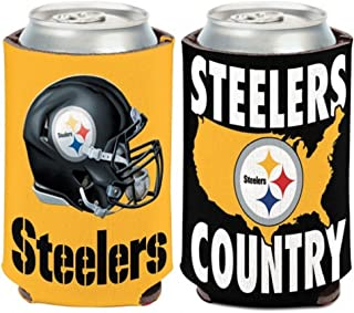 Pittsburgh Steelers FOOTBALL CAN COOLER 2-SIDED