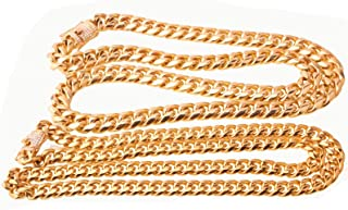 8-14MM Hip Hop Necklace Men Stainless Steel Jewelry Chain Curb Chain Hip Hop Jewelry Necklace with Cubic Zirconia Vintage Gold Chain 18-30Inch