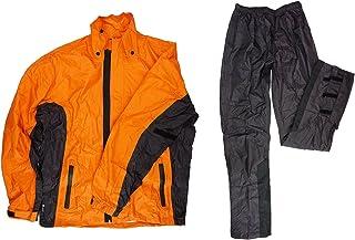 HANDLE KING LEAD スリム レインウェア 男女兼用 バイクウエア [オレンジ-3Lサイズ] レインスーツ RW-054D