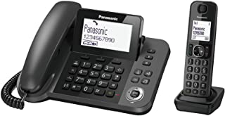 Panasonic KX-TGF310 digital corded and cordless phone with 1 corded handset and 1 cordless handset