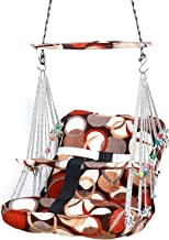 Wazdorf Cotton Swing for Kids Baby's Children Folding and Washable 1-8 Years with Safety Belt Home Garden Jhula for Babies for Indoor Outdoor, Baby Hanging Swing Jula (Multi)