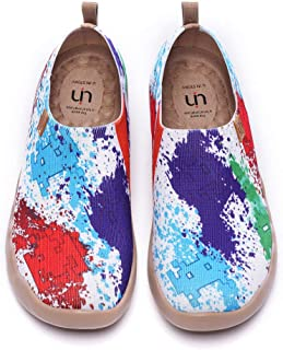 UIN Scarpe Ginnastica Scarpe Espadrillas a Maglia per Donna Casual Slip on Mocassini Sneakers Basse Colorate in Tela Dipin...