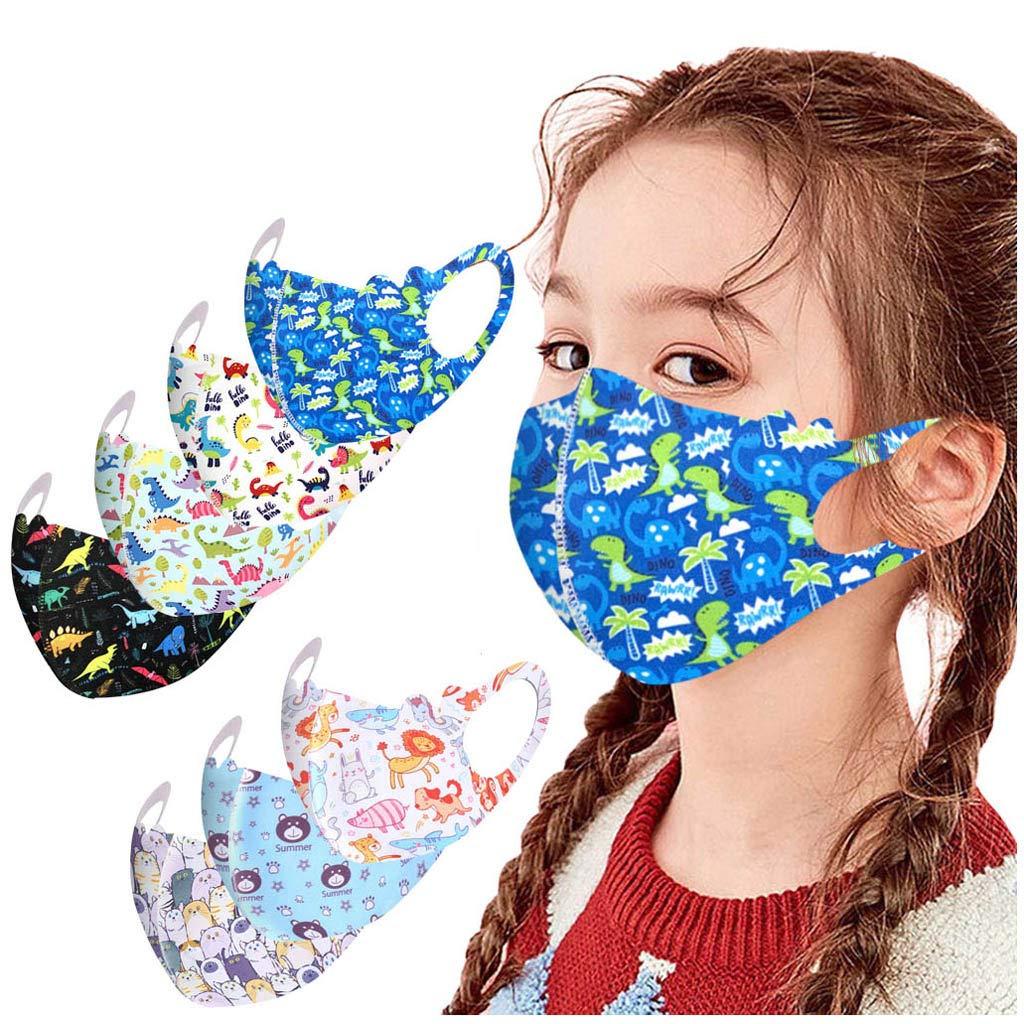 Huluob Kids 7 pcs algodón Cara Bandana imágenes de Dibujos Animados Lavable/Reutilizable a Prueba de Viento para Actividades al Aire Libre niños Multicolores: Amazon.es: Deportes y aire libre