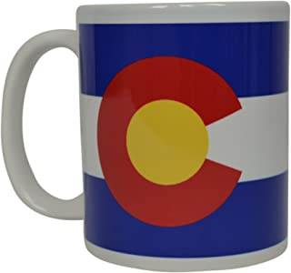 Best Coffee Mug Colorado State Flag Novelty Cup Great Gift Idea For Men Women