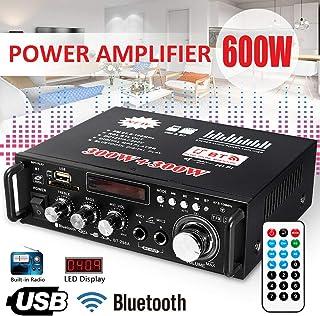 Aoile - Amplificador LCD de 600 W con Audio HiFi, estéreo,