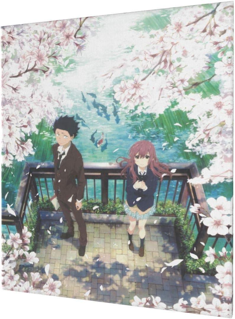 お気に入り A Silent 授与 Voice Movie Wall Art Framed Canvas P Print Decor Poster