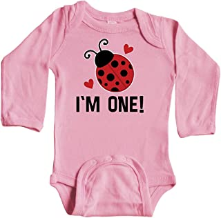 inktastic 1st Birthday Ladybug 1 Year Old Long Sleeve Creeper