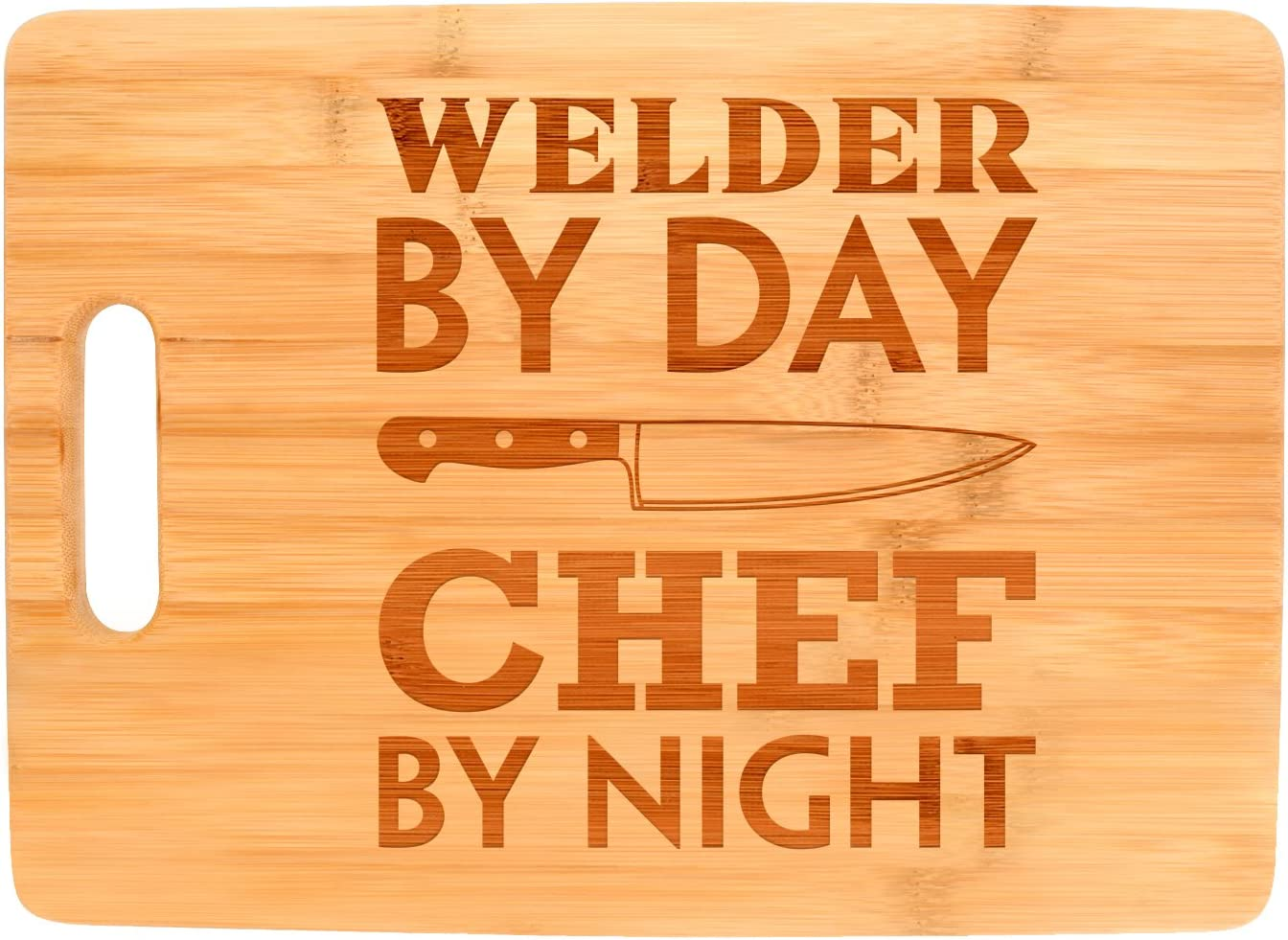 Gift for Welder By Day Chef Night 5 ☆ popular Max 54% OFF Rectangle Big Welding Bambo