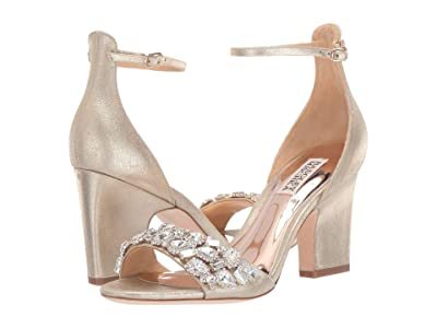 Badgley Mischka Laraine (Platino Metallic Suede) High Heels