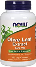NOW Supplements, Olive Leaf Extract 500 mg, Free Radical Scavenger*, 120 Veg Capsules