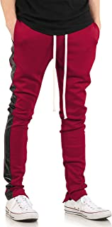 Made in USA Premium Track Pants with Unique Designs Plaid Floral Leather Snake Color Block Active Streetwear
