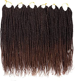 VRUnique (12 Inch (6 Count), 1B-30#) Senegalese Twist Crochet Hair Braids Small Havana Mambo Twist Crochet Braiding Hair Senegalese Twists Hairstyles For Black Women 30 Strands/Pack