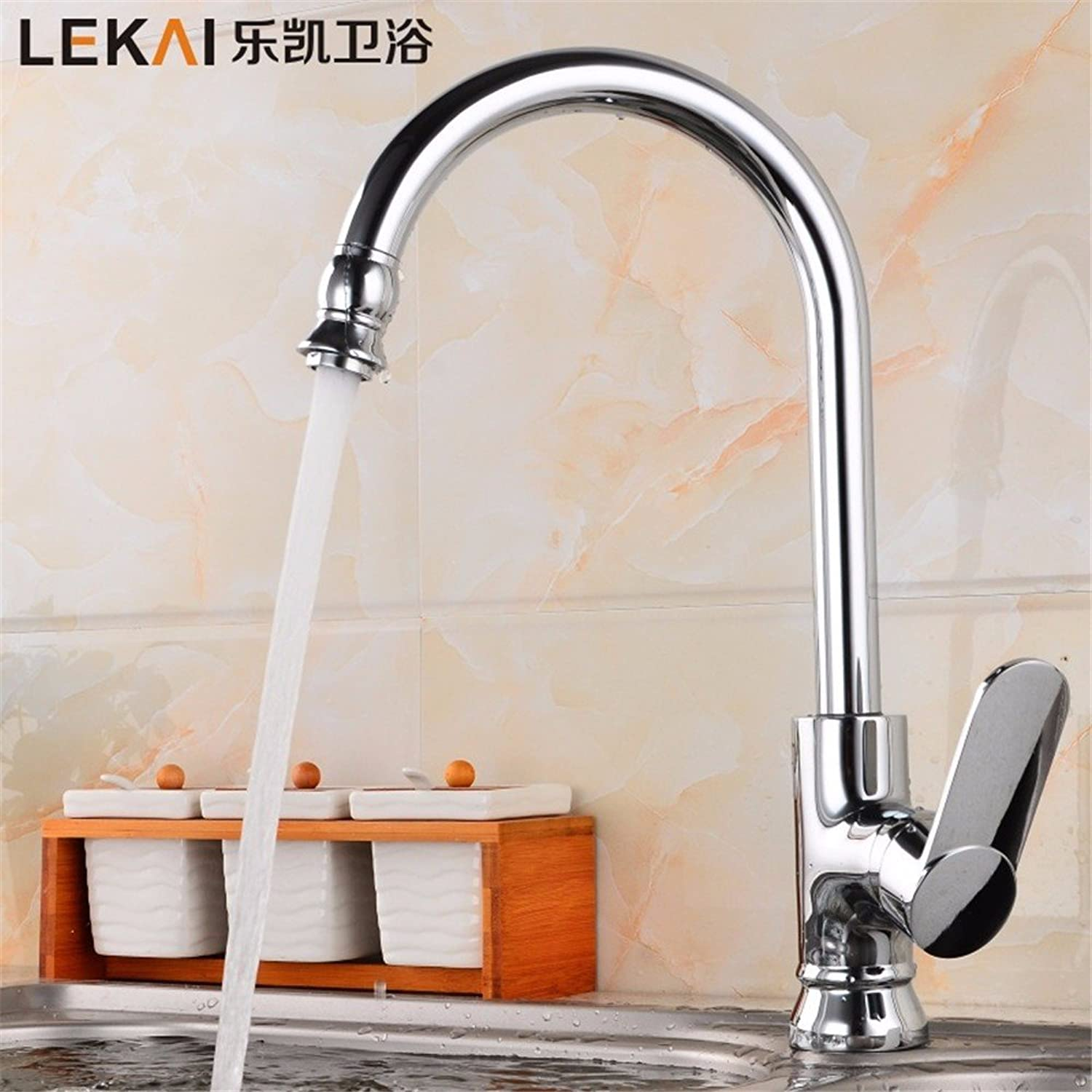 Bijjaladeva Bathroom Sink Vessel Faucet Basin Mixer Tap Chrome-plated stainless steel full copper kitchen faucet classic hot and cold water tank, stainless steel cooking pots of ro