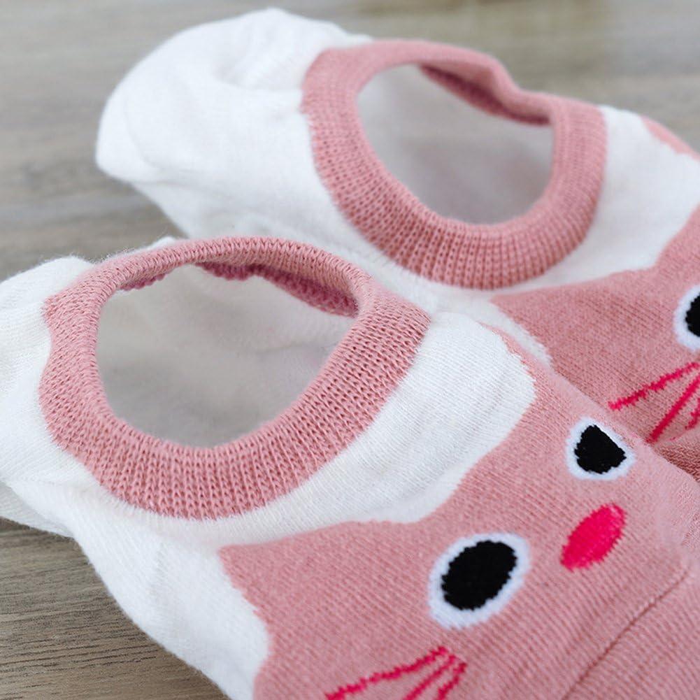 uyhghjhb 1 par de Mujeres Lindo holgaz/án algod/ón Invisible Ayuda Baja Antideslizante Calcetines de Silicona para Barco