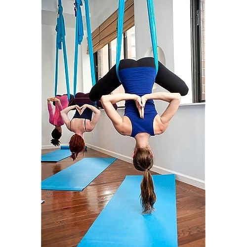 a65f262a2 DASKING Premium Aerial Yoga Hammock Kit Flying Yoga Silk Kit