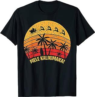 Mele Kalikimaka Vintage Christmas Santa Reindeers Hawaii T-Shirt
