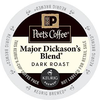 Peet's Coffee & Tea Coffee Major Dickason's Blend K-Cup Portion Pack for Keurig K-Cup Brewers, 88 Count (Packaging May Vary)