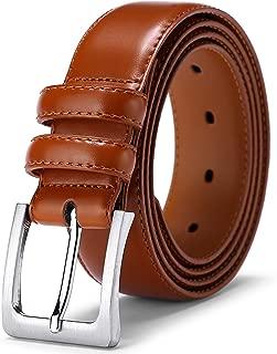 Mens Belt, Jiguoor Genuine Leather Belts for Men's Casual Dress Work Business Jeans Golf Belt