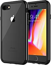 JETech Case for Apple iPhone 8 and iPhone 7, 4.7-Inch, Shock-Absorption Bumper Cover, Anti-Scratch Clear Back, Black