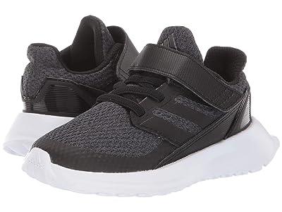 adidas Kids RapidaRun EL I (Toddler) (Black/Carbon/White) Boys Shoes