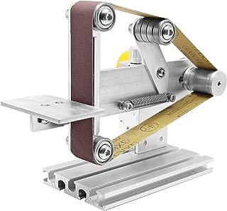 Huanyu Mini Belt Sander Micro Desktop Grinder Electric DIY Sand Mill with 360W-24V-15A DC Motor Power Supply (Speed Regulation Version, 30mm)