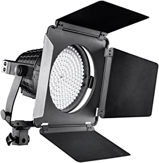 Walimex Pro LED Spotlight XL mit Abschirmklappen (Studioleuchte, Dimmbar, Daylight, 5600 Kelvin, Metallgehäuse)