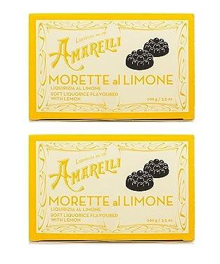 Amarelli Regaliz - Morette - Caramelos De Regaliz Con Lemon - 200 gr