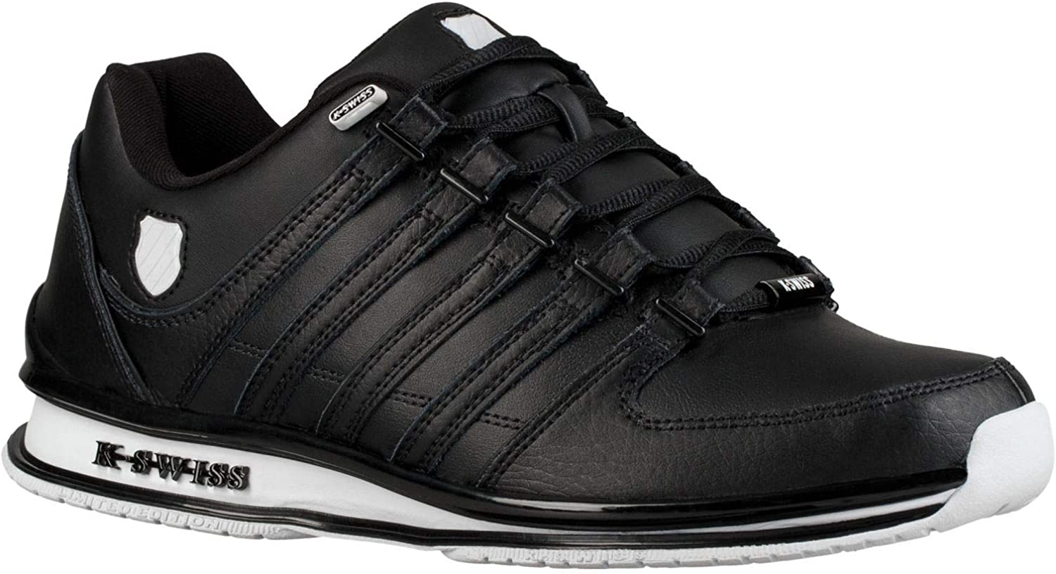 K. Swiss Rinzler SP Black White Mens Leather Trainers shoes