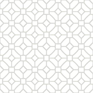 WallPops FP2946 Lattice Peel & Stick Floor Tiles, White & Off-White