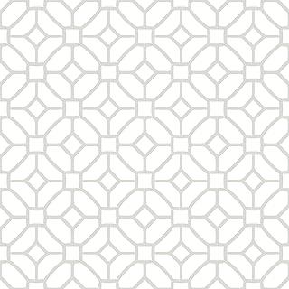 FloorPops FP2946 Lattice Peel & Stick Floor Tile, White