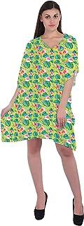 RADANYA Leaf Women's Casual wear Cotton Kaftans Swimsuit Cover up Caftan Beach Short Dress