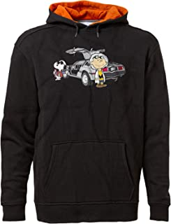 Men's Back to The Future Charlie Brown Snoopy Premium Hoodie