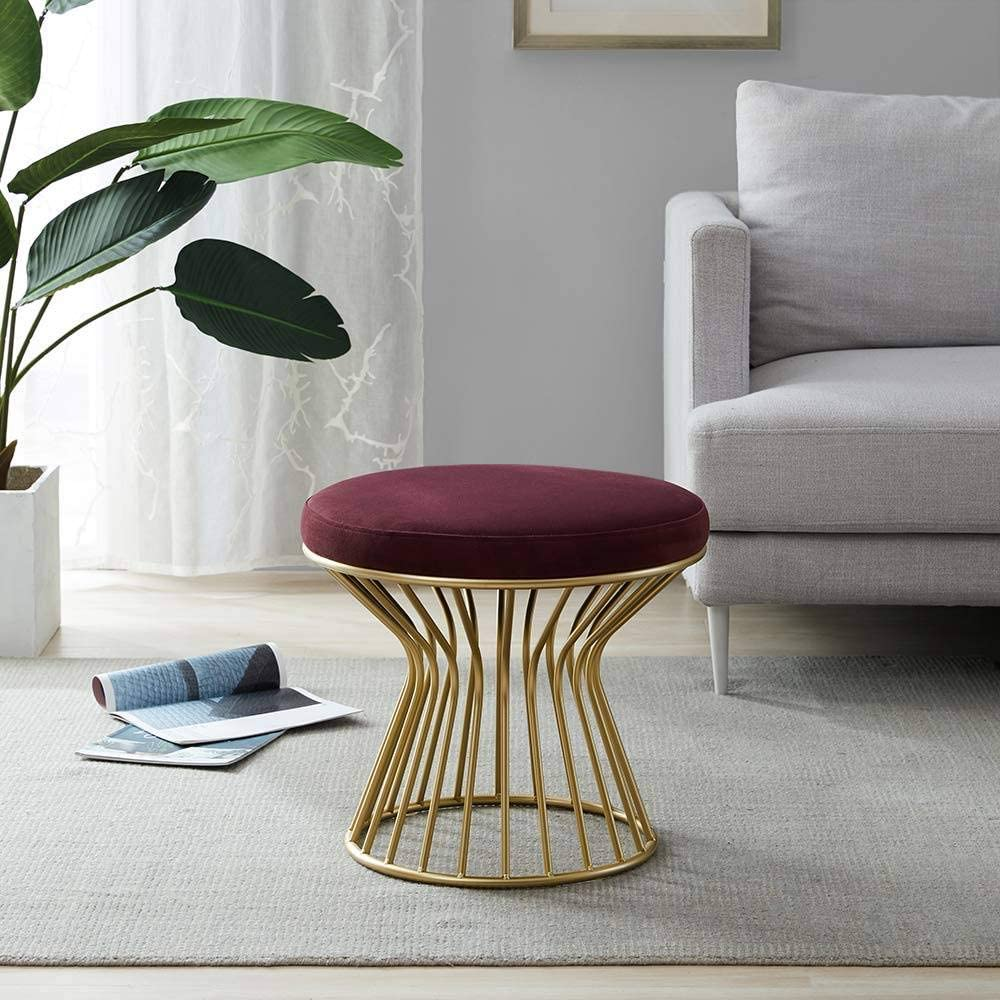 industrial stool design chair Amerald Green Velvet Knot stool modern chair wood stool,