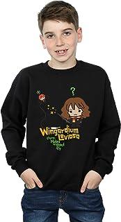 HARRY POTTER niños Hermione Granger Wingardium Leviosa Junior Camisa De Entrenamiento 5-6 Years Negro