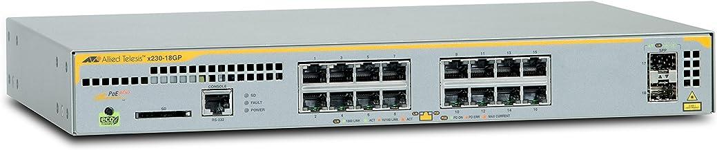 Allied Telesis AT-x230-18GP-50 Gestionado L2+ Gigabit Ethernet (10/100/1000) Gris Energía sobre Ethernet (PoE) - Switch de red (Gestionado, L2+, Gigabit Ethernet (10/100/1000), Bidireccional completo (Full duplex), Energía sobre Ethernet (PoE), Montaje en rack)