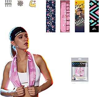 """Cooling Towel(40""""x12"""") - Ice Towel,Headscarf, Activities, Yoga, Running, Gym, Fitness, Travel,Golf, Outdoor Sports"""