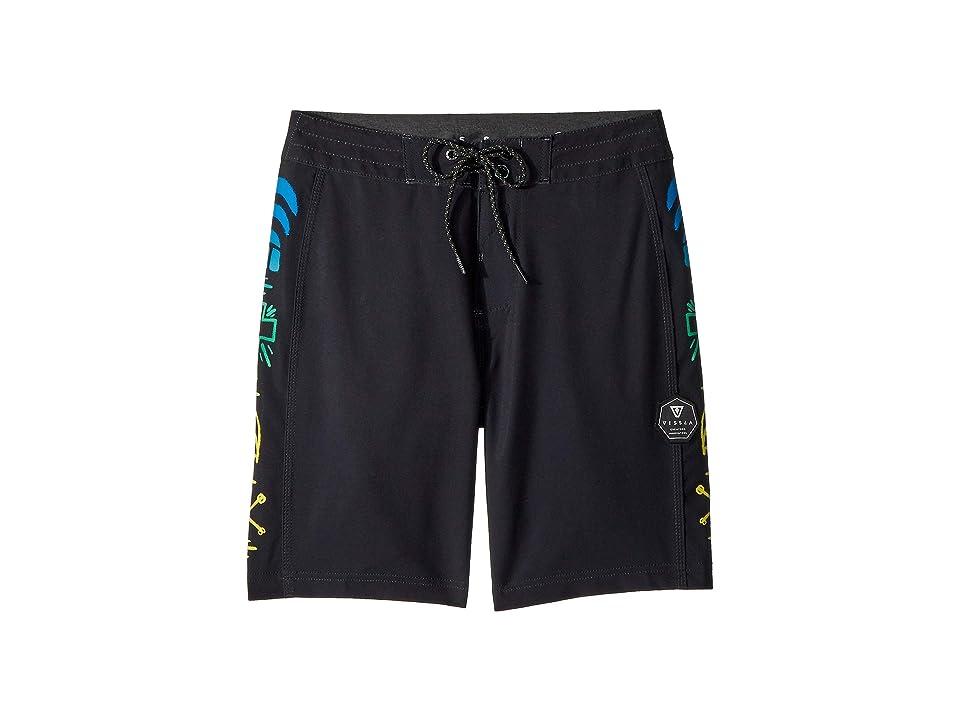 VISSLA Kids Jeff Ho Zephyr Four-Way Stretch 17 Boardshorts (Big Kids) (Black) Boy