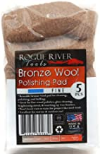 Rogue River Tools Bronze Wool Pads - Fine (5)
