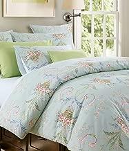 Softta Luxury European FloralBedding Green Full Size 3 pcs 1 Duvet Cover+ 2 Pillowcases 100% Egyptian Egyptian Cotton 800 TC