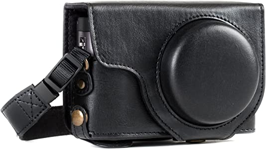 MegaGear Ever Ready Leather Camera Case compatible with Panasonic Lumi...