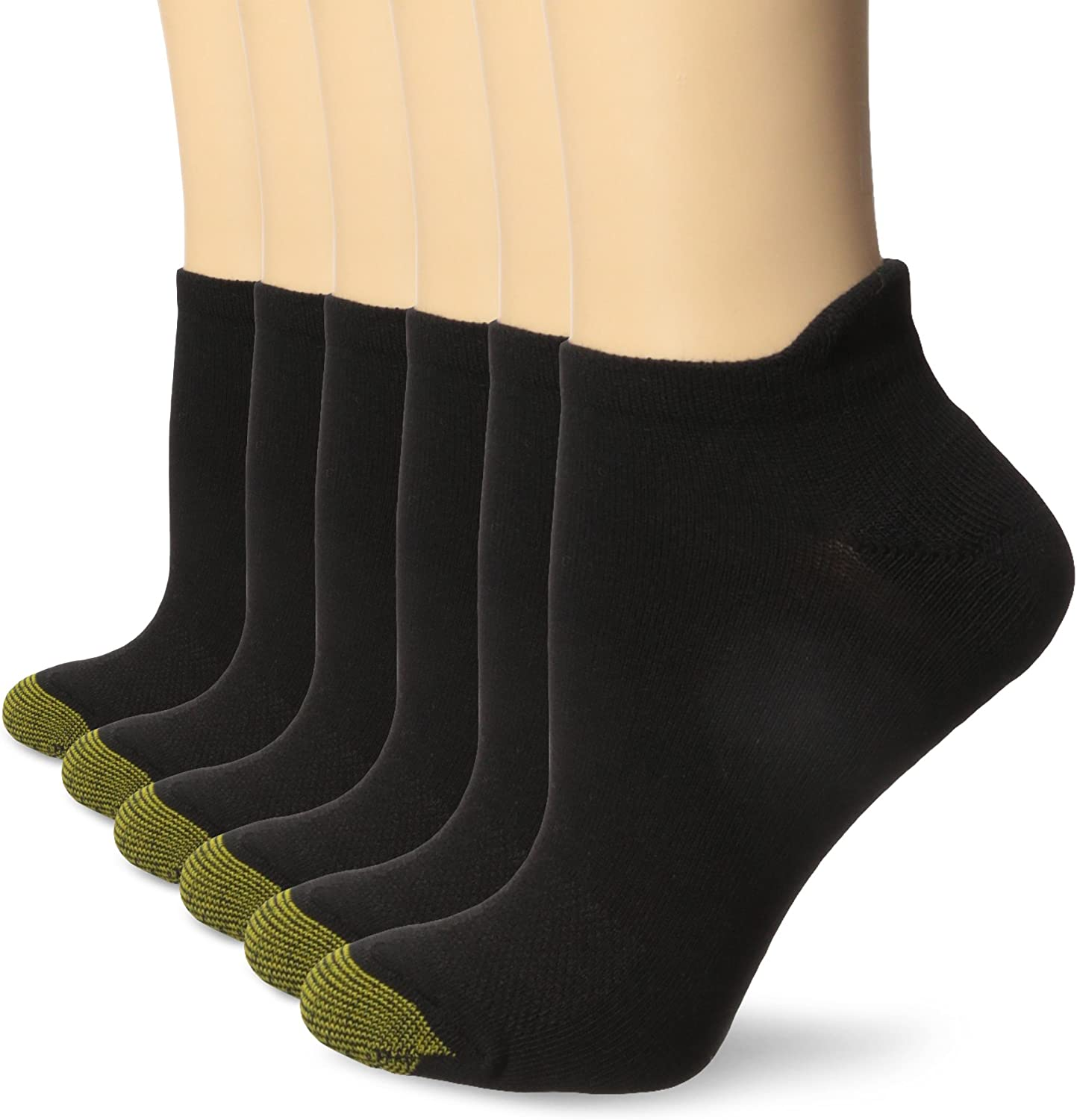 Gold Toe Women's Sport Vacation No Show Socks with Tab, 6-Pairs