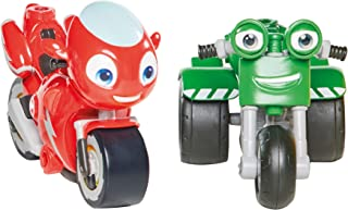TOMY T20044 Ricky Zoom & DJ 2 Pack, 3 Inch Action Figures Wheeling, Free Standing Kids Motorbike Toys for 3 Year Old Boys ...