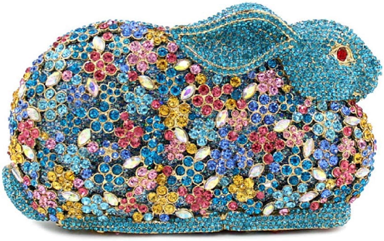Ladies Handbag Ladies Evening Bag Fashion Luxury Ladies Handbag Clutch Bag (color   blueee, Size   One Size)