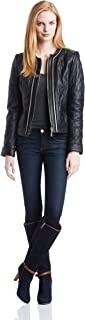 Best black leather jacket with gold zippers Reviews