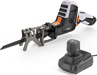 TACKLIFE 12V MAX Reciprocating Saw with Clamping Jaw, Cordless Reciprocating Saw kit with..