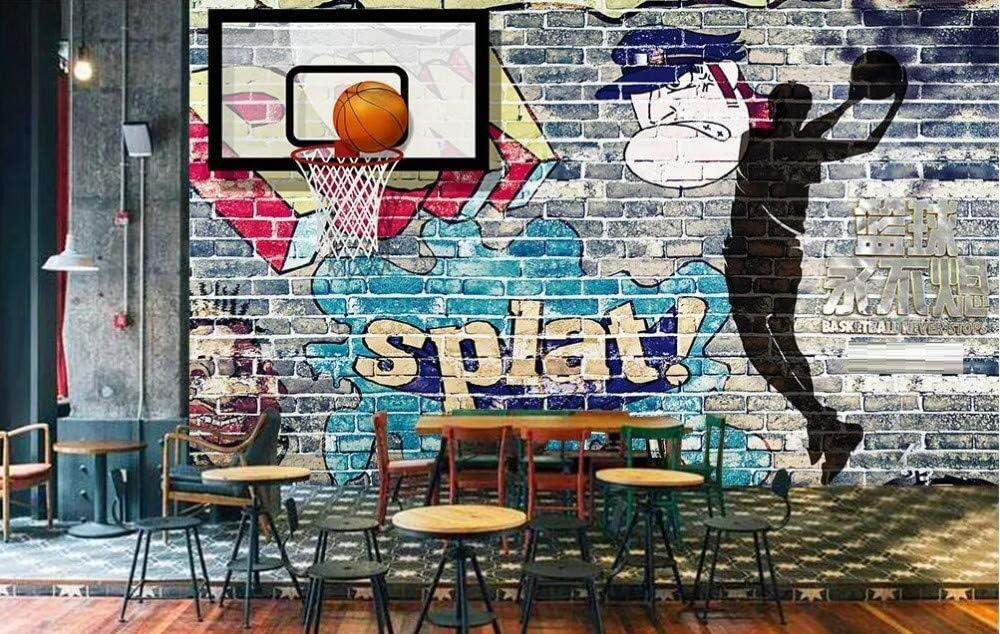Tapete 3d Fototapete Basketball Graffiti Backsteinmauer Tapeten 3d Effekt Vliestapete Moderne Wanddeko Baumarkt